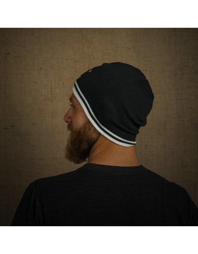 Tormack Black & White Knit Beanie