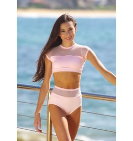 Details Dancewear Pink Breeze Mesh Brief