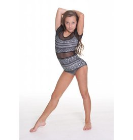 Just Dance Brittany 1 Piece Mesh Leotard