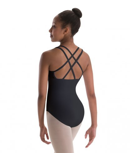 MotionWear 4-Strap Double-Cross-Back Camisole Leotard - Youth