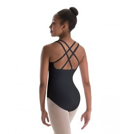 MotionWear 4-Strap Double-Cross-Back Camisole Leotard Adult