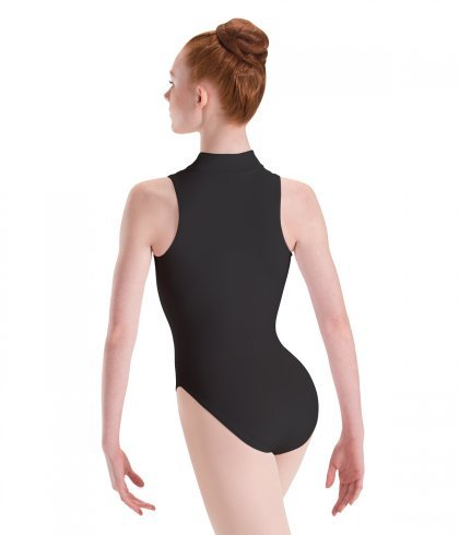 MotionWear Zip-Front Mock-T High-Cut Leotard Adult
