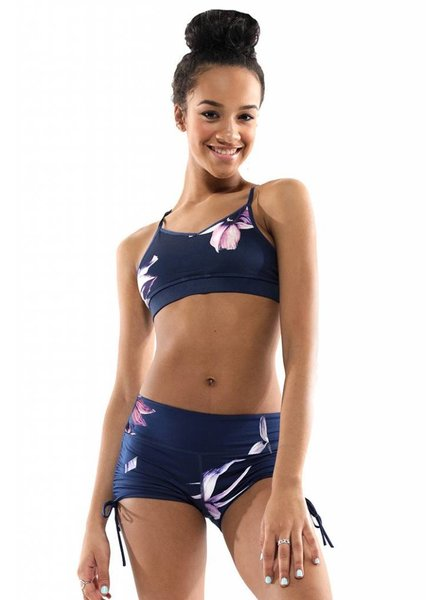 Miss Behave/ Miss Fit Maggie Navy Floral Top
