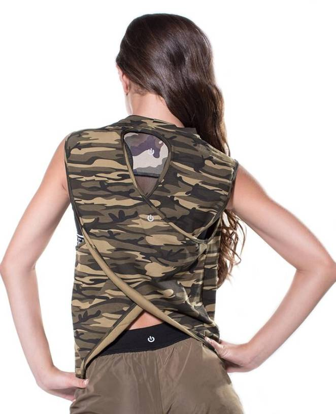 Miss Behave/ Miss Fit  Miriam Camoflage Tank