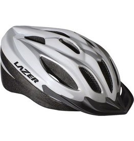Lazer Lazer Compact Helmet: White/Silver MD