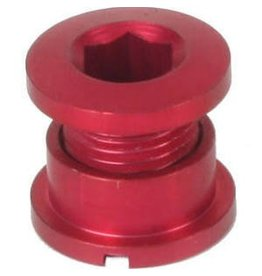 Origin8 CHAINRING BOLT SET OR8 SINGLE ALY RED - set of 5