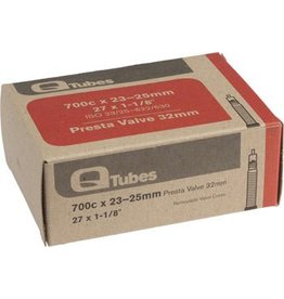 Q-Tubes 700c x 23-25mm 32mm Presta Valve Tube 125g