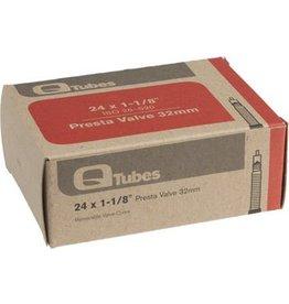 24x1-1/8 Q-Tubes 32mm Presta Valve Tube 92g