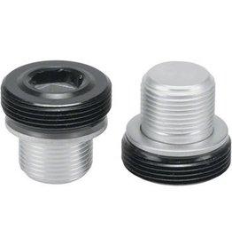 Problem Solvers Crankset Bolts with Black 10mm Allen Caps