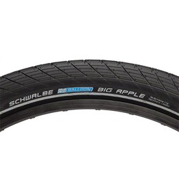 Schwalbe 26x2.35 Schwalbe Big Apple Tire, Wire Bead Black w/ Reflective Sidewall & RaceGuard Protection