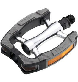 "Wellgo Wellgo C098 BMX Pedals 9/16"" Black/Gray"