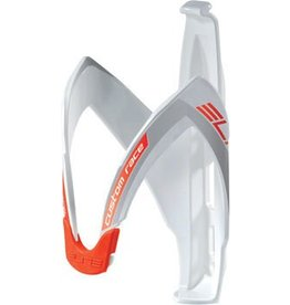 Elite Custom Race Water Bottle Cage: White/Red