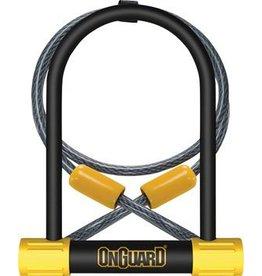 """OnGuard Bulldog 4.5 x 9"""" U-Lock with 4' Cable"""