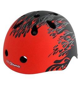 Kidzamo KIDZAMO Bike/Skate SM-MD Flames RD/BK