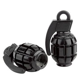 Black Ops Black Ops valve caps GRENADE BLK