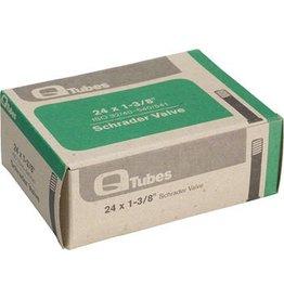 24x1-3/8 Q-Tubes Schrader Valve Tube 124g *Low Lead Valve*