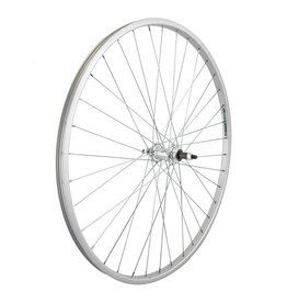 27x1-1/4 Rear Wheel (630x19) Alloy Silver, 36h, Freewheel