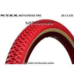 "Panaracer 20x2.125 Panaracer NTKK ""Snakebelly"" BMX Foldable Kevlar Tire - Red"