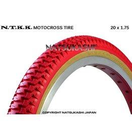"Panaracer 20x1.75 Panaracer NTKK ""Snakebelly"" BMX Foldable Kevlar Tire - Red"