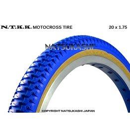 "Panaracer 20x1.75 Panaracer NTKK ""Snakebelly"" BMX Foldable Kevlar Tire - Blue"