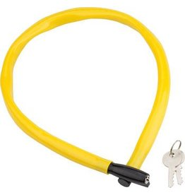 Kryptonite Kryptonite Keeper 665 Cable Lock with Key: 2.13' x 6mm Yellow