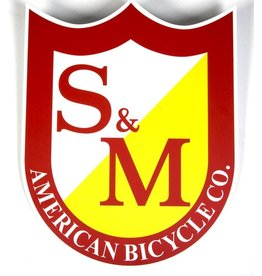 S&M S&M BIG SHIELD STICKER - 8inch