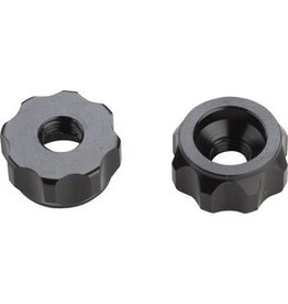 Problem Solvers Super P-Nut Oversized Presta Valve Nut, Pair, Black