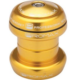 "Promax Promax PI-1 Alloy Sealed Bearing 1-1/8"" Press in Headset Gold"