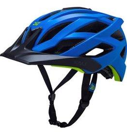 Kali Protectives Kali Protectives Lunati Helmet: Solid Matte Blue/Green LG/XL