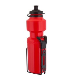 Sunlite Water Bottle 25oz w/Steel Cage Red