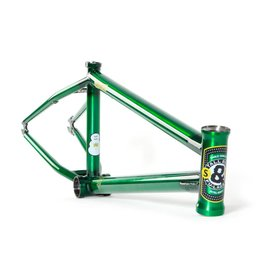 "S&M S&M Crumlish Sig. Tall Boy Frame 21.5""TT, Trans Green"