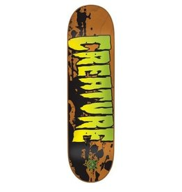 Creature 7.4x27.6 Stained XS Orange Creature Skateboard Deck