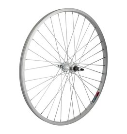 26x1.5 (559x19) Rear Wheel, Alloy, 36h, Freewheel 5/6/7sp, Silver 135mm