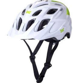 Kali Protectives Kali Protectives Chakra Solo Helmet: Neo White/Green MD/LG