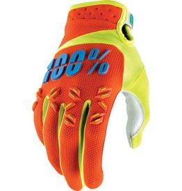 100% 100% Airmatic Glove: Orange MD