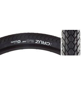 WTB 26x2.0 WTB Cruz Flat Guard Tire, Wire Bead, Black
