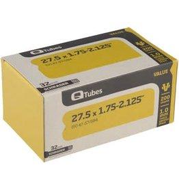 "Q-Tube Value Series Tube with Schrader Valve: 27.5"" x 1.75-2.125"""