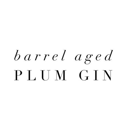 Barrel Aged Plum Gin