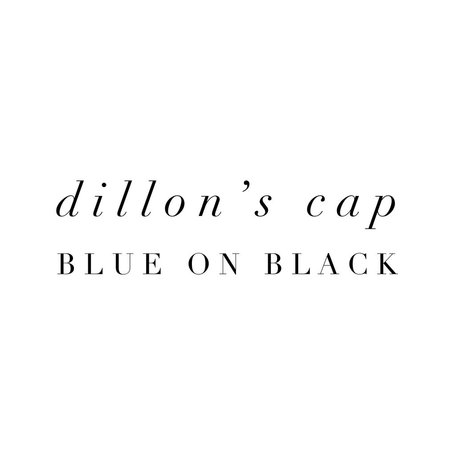 Blue on Black Cap