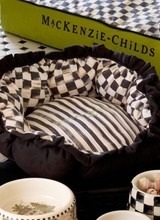 Mackenzie-Childs Courtly Check Pet Pouf