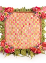 Mackenzie-Childs Blushing Bouquet Square Pillow