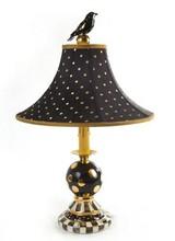 Mackenzie-Childs IBlack Tie Bulbous Lamp