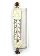 Mackenzie-Childs Parchment Check Enamel Thermometer