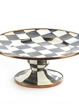 Mackenzie-Childs Courtly Check Enamel Mini Pedestal Platter