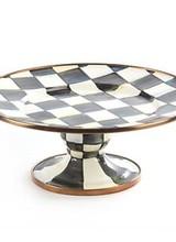 Mackenzie-Childs Courtly Check Enamel Mini Pedestal Platter