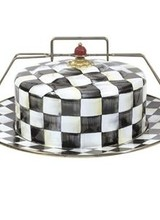 Mackenzie-Childs Courtly Check Enamel Cake Carrier