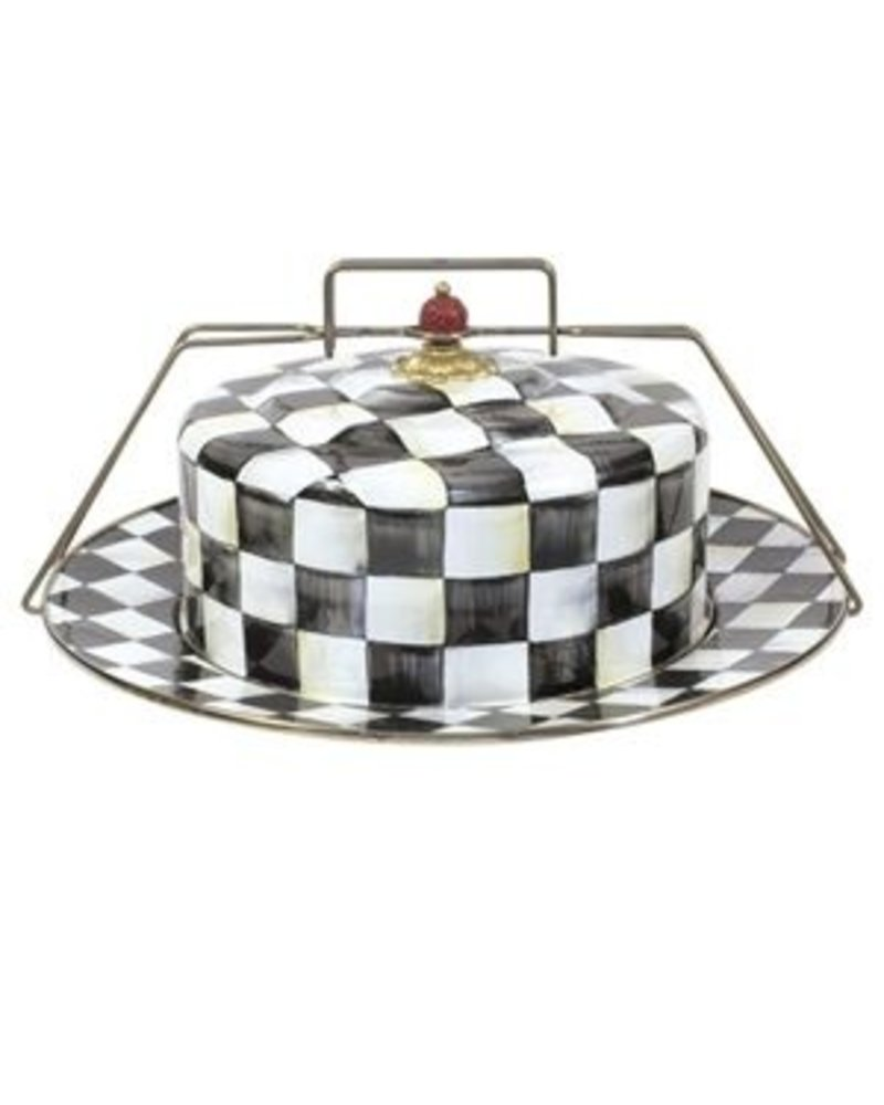 Mackenzie-Childs Courtly Check Enamel Cake Carrier - LG Gallery