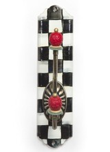 Mackenzie-Childs Courtly Check Enamel Wall Single Hook