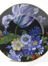 Mackenzie-Childs Flower Market Dinner Plate - Black