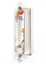 Mackenzie-Childs Flower Market  White Thermometer